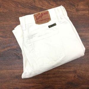 LUCKY BRAND Straight Leg Mid Rise White Denim Jean